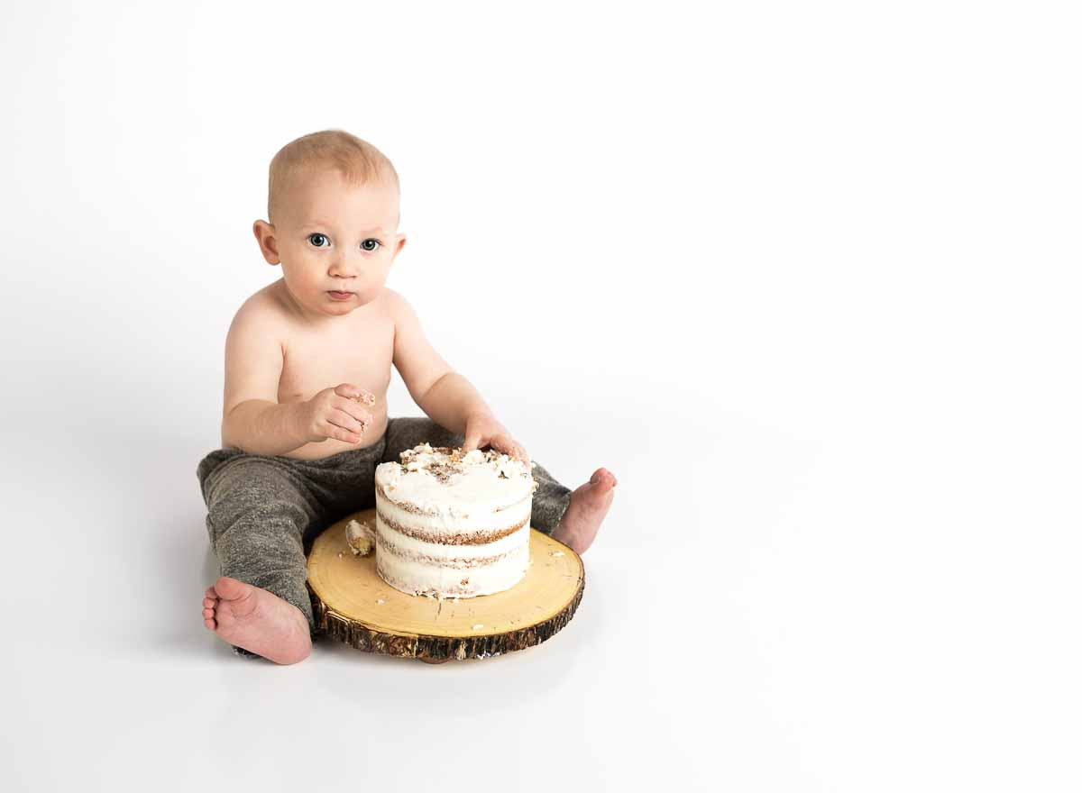 cake smash fotografering